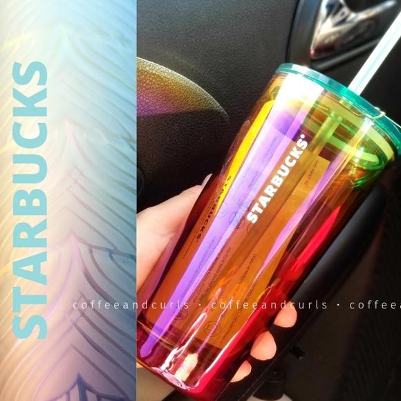 SB Rainbow Oilslick Glass Tumbler 18oz NWT